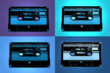 Audio Cassette Tapes Blue Pop Poster Posters