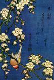 Katsushika Hokusai Bullfinch and Drooping Cherry Poster Posters by Katsushika Hokusai