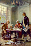 Writing the Declaration of Independence Historical Prints