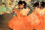 Edgar Degas Ballerine in Rosa Posters by Edgar Degas