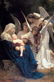 William-Adolphe Bouguereau Song of the Angels Art Print Poster Posters by William-Adolphe Bouguereau