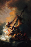 Rembrandt Christ in the Storm on the Lake Genezareth Poster Prints by Rembrandt van Rijin