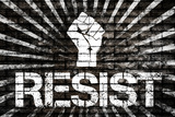 Resist Fist Political Graffiti Poster Print