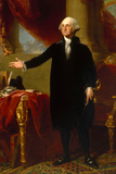 President George Washington Standing Historical Poster Prints