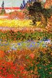 Vincent van Gogh Flowering Garden Poster Poster by Vincent van Gogh