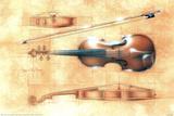Dan McManis Violin Orchestra Posters by Dan McManis