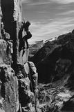 Mountain Climbing Rock Face Poster Photo