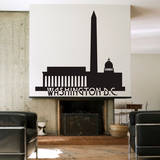 Washington DC Skyline Black Wall Decal Wall Decal