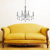 Jewel Chandelier Grey Wall Decal Decalques de parede