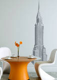 Chrysler Building Grey Wall Decal Wall Decal