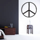 Line Peace Sign Black Wall Decal Decalques de parede