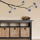 Dogwood Branch Blue Wall Decal Wall Decal