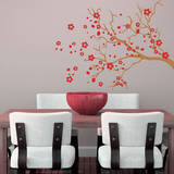 Watsonia Branch Red Wall Decal Wall Decal