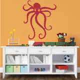 Octopus Red Wall Decal Wall Decal