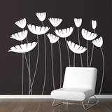 Honey, I Supersized the Flowers White Wall Decal Wall Decal