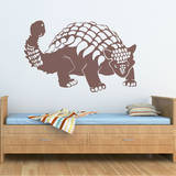 Ankylosaurus Brown Wall Decal Wall Decal