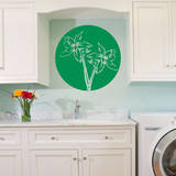 Orchid Circle Light Green Wall Decal Wall Decal