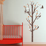 Cherry Blossom Measurement Tree Persimmon Wall Decal Wall Decal