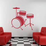 Drum Set Red Wall Decal Wall Decal