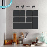 What's For Dinner? Chalkboard Wall Decal Vinilo decorativo