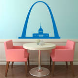 St. Louis Arch Azure Wall Decal Wall Decal