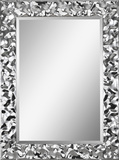 Couture Crinkle Chrome Mirror Wall Mirror by Kelly Stevenson