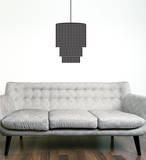 Modern Chandelier Black Wall Decal Decalques de parede