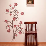 Paradise Branch Red Wall Decal Wall Decal