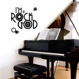 Rock God Black Wall Decal Wall Decal