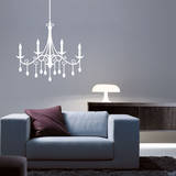 Jewel Chandelier White Wall Decal Wall Decal