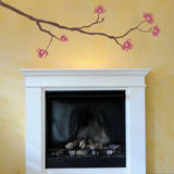 Dogwood Branch Pink Wall Decal Wall Decal