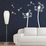 Dandelions, Medium White Wall Decal Wall Decal