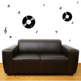 Record Harmony Black Wall Decal Wall Decal
