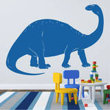 Brontosaurus Blue Wall Decal Wall Decal