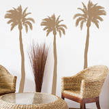 Palm Trees Brown Wall Decal Wall Decal