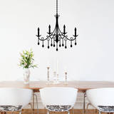 Jewel Chandelier Black Wall Decal Wall Decal