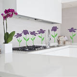 Happy Flowers Violet Wall Decal Wall Decal