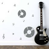 Record Harmony Grey Wall Decal Wall Decal