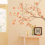 Watsonia Branch Orange Wall Decal Wall Decal