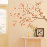 Watsonia Branch Orange Wall Decal Wall Decal