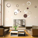 Circle Daze Brown Wall Decal Wall Decal