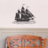 Flagship Black Wall Decal Decalques de parede