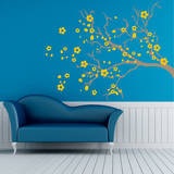 Watsonia Branch Yellow Wall Decal Wall Decal