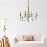 Jewel Chandelier Brown Wall Decal Decalques de parede