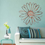 Sketch of a Daisy Orange Wall Decal Wall Decal
