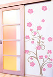Paradise Branch Pink Wall Decal Wall Decal
