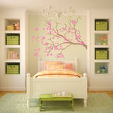 Watsonia Branch Bubblegum Wall Decal Wall Decal