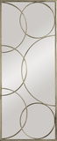 Kyrie Enclosed Circles Antique Silver Mirror Wall Mirror