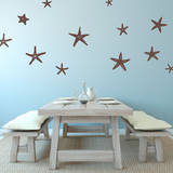 Stunning Starfish, Large Brown Wall Decal Wall Decal