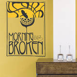 Morning has Broken Yellow Wall Decal Adesivo de parede